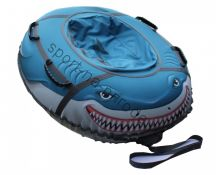 Санки-ватрушка (тюбинг) «Акула» овал 110х95 см с камерой
