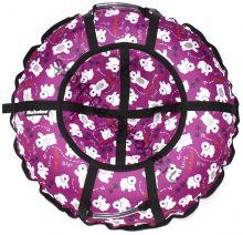 Тюбинг Hubster Люкс Pro Мишки фиолетовые 120 см